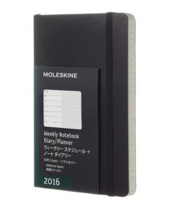 モレスキン 手帳 2016 ウィークリー 1月始まり ポケット ブラック ソフトカバー DSB12WN2Y16