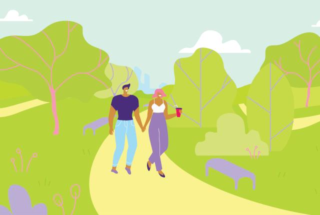 大きなオブジェを見ながらお散歩デートできる鹿児島県霧島アートの森